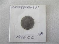 1876 Carson City Dime (Rare)