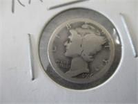 Rare 1916 Mercury Dime