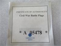 """Civil War Battle Flags"" Collectable"