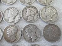 Various Years Mercury Dimes