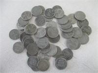 Various Steel Wheat Pennies