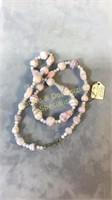 3 Necklaces Glass Crystal Semiprecious