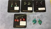 5 Pr Earrings Sterling GF Wires