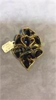 Art Nouveau Necklace & Pin Brass