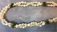 2 Bracelets 3 Necklaces Jade Pearl Turq