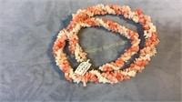 3 Necklaces bracelet Jade Coral Onyx