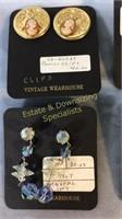 7 Pr Clip-on Earrings