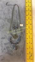 "Lapis Set 20"" L Necklace & Wire Earrings"