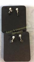 5 Pr Screw Back Earrings Carded