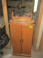 Cabinet, Shelf and Metal Artwork