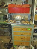 Heavy Duty Grinder, Metal Tool Box, Tools, Drawers