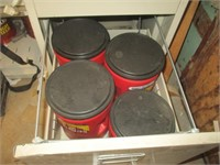 File Cabinet and Contents, Tools, Nuts, Bolts