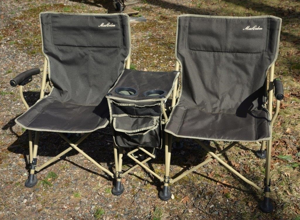 Stupendous Maccabee Double Folding Camping Chair Hueckman Auction Caraccident5 Cool Chair Designs And Ideas Caraccident5Info