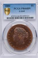 $1 1880 J-1649. PCGS PR66 BN CAC