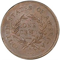1C 1793 WREATH, LETTERED EDGE. PCGS MS64 BN CAC