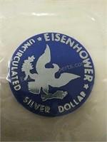 1972 Eisenhower Uncirculated Silver Dollar