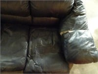 Pleather Couch - Needs Repairs - Blue