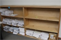 8 Foot Long Solid Maple Shelving Unit
