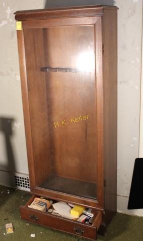 Wooden Gun Cabinet And Contents H K Keller