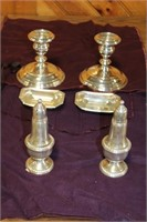 10 PIECES OF STERLING SERVING ITEMS
