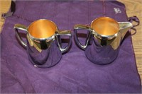 9 PIECES OF SILVER PLATED SERVING ITEMS