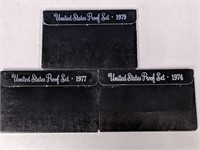 US Proof Sets for 1979, 1977, 1974
