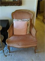 Beautiful Victorian Style Pale Pink Chair