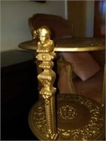 Stunning Gold Colored Cast Iron Plant Stand