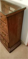 Drexel Flame Mahogany 4 Drawer Chest