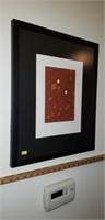 Abstract Grid Print 3 of 8 N805 Framed