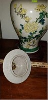 Nice Vintage Asian Urn with Lid & Stand
