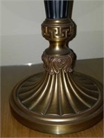 Beautiful Pair of Vintage Style Brass Base Lamps
