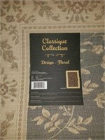 Beautiful Classique Collection Black Floral Rug