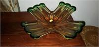 Vintage Murano Glass X Bowl Unusual