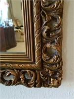 Stunning Wood Carved Framed Mirror
