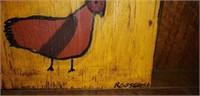 Roosevelt Montgomery Al Artist Folk Art Chicken