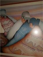 Large Beautiful Framed Native American Print