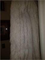 Stunning Women's White/Gray Fur Coat