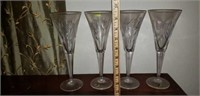 Stunning Waterford Crystal lot of 4 Long stems