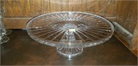LargecLead Crystal Very Nice Cake Stand