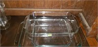Lot of 3 Nice Pyrex Baking Dishes