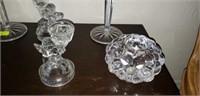 Estate Lot of 6 glass Candleholders