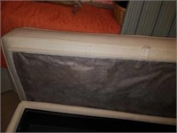 Off White Upholstered Linen Trunk