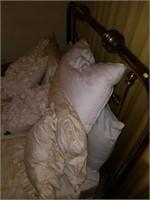 Vintage Full Size Brass Metal Bed