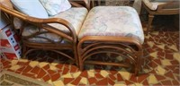 5 piece rattan patio set with cushions