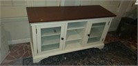 Beautiful T.V. stand with shelves