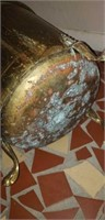 Nice brass footed umbrella holder