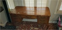 4 drawer sewing cabinet with singer sewing machine
