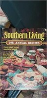 Tote of estate books, cookbooks, and more