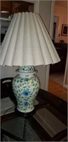Beautiful lamp with flowers and shade